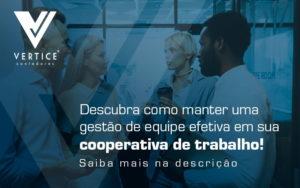Descubra Como Manter Uma Gestao De Equipe Efetiva Em Sua Cooperativa De Trabalho Blog - Contabilidade em Brasília | Vértice Contadores e Associados S/S Ltda.